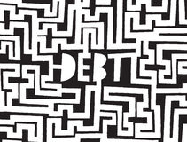 Debt as a complex maze or problem Royalty Free Stock Images