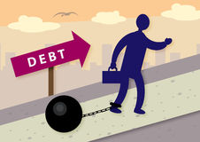 Debt Burden Stock Image