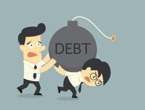 Debt. Businessman carry the debt concept Stock Photo