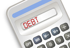 Debt Calculator Royalty Free Stock Photos