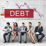 Debt Chart Graphic Diagram Concept Royalty Free Stock Images