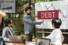 Debt Chart Graphic Diagram Concept Stock Photography