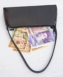 Debt collector's bag. Stock Photo