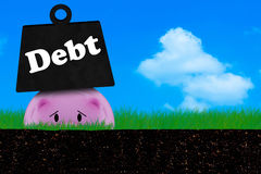 Debt Conccept, Financial Crisis Stock Images