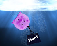Debt Conccept, Financial Crisis Stock Photos