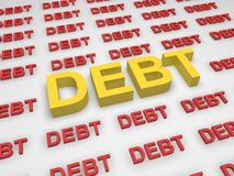 Debt concept. In 3d style Royalty Free Stock Photography