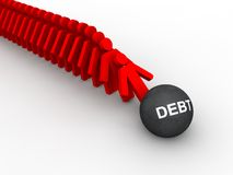Debt concept Royalty Free Stock Image