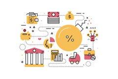 Debt concept illustration Stock Photo