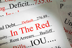 Debt Concept Royalty Free Stock Photography