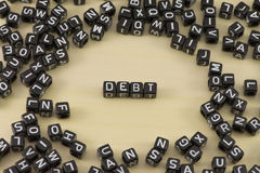 The debt Stock Photos