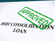 Debt Consolidation Loan Approved Royalty Free Stock Image