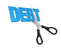 Debt Cuts Concept Stock Images