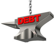 Debt. 3d generated picture of a debt concept Royalty Free Stock Photo