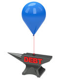 Debt. 3d generated picture of a debt concept Stock Photos