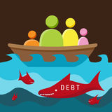 Debt Danger Stock Photo