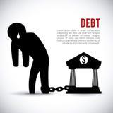 Debt design Royalty Free Stock Image