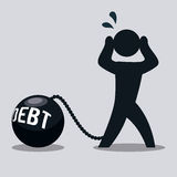 Debt design. Debt graphic design , vector illustration Royalty Free Stock Photography