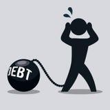 Debt design Royalty Free Stock Photography