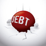 Debt design Royalty Free Stock Photo