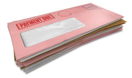 Debt Envelope Stack Stock Image
