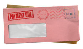 Debt Envelope Stack Royalty Free Stock Image