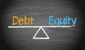 Debt and Equity. Balance Concept Stock Image