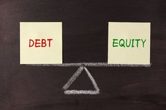 Debt and Equity Balance Royalty Free Stock Photo