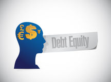 Debt equity sign illustration design Stock Photos