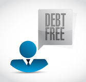 Debt free avatar sign concept illustration Stock Image