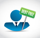 Debt free avatar sign concept illustration Stock Photography