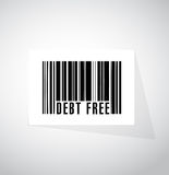 Debt free barcode sign concept illustration Stock Photos