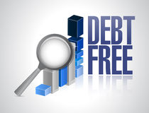 Debt free business graph sign concept Royalty Free Stock Photography