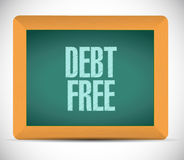 Debt free chalkboard sign concept Royalty Free Stock Image