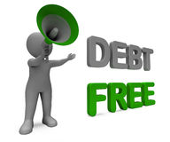 Debt Free Character Means Financial Freedom. Debt Free Character Meaning Financial Freedom Credit Or No Liability Stock Image