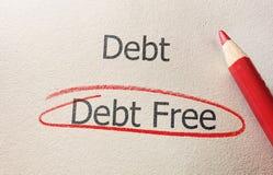 Debt Free concept Royalty Free Stock Photos
