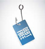 Debt free hook tag sign concept illustration Royalty Free Stock Photo