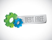 Debt free industrial sign concept illustration Royalty Free Stock Photos