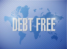Debt free international sign concept Stock Photos