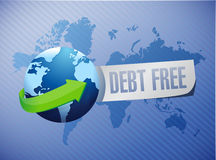 Debt free international sign concept Stock Photography