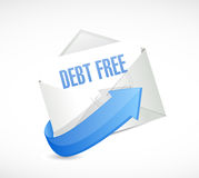 Debt free mail sign concept illustration Stock Image