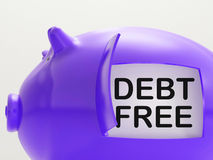 Debt Free Piggy Bank Means Money Paid Off Stock Photos