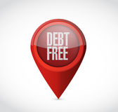 Debt free pointer sign concept illustration Royalty Free Stock Image
