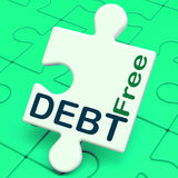 Debt Free Puzzle Means Financial Freedom. Debt Free Puzzle Meaning Financial Freedom And No Liability Royalty Free Stock Photo