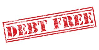 Debt free  red stamp Stock Images