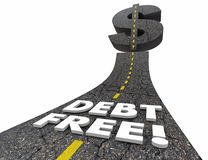 Debt Free Road Out of Bankruptcy Improve Finances 3d Illustratio. N Royalty Free Stock Photo