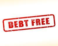 Debt free text buffered Royalty Free Stock Photos