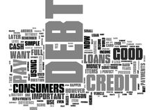 When Is Debt Good Word Cloud Stock Photography