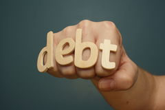 Debt Knockout Punch Stock Photos