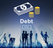 Debt Loan Credit Money Financial Problem Concept Stock Photos