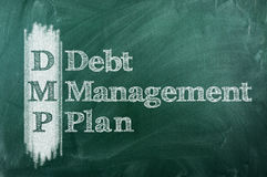 Debt Management Plan Stock Photo